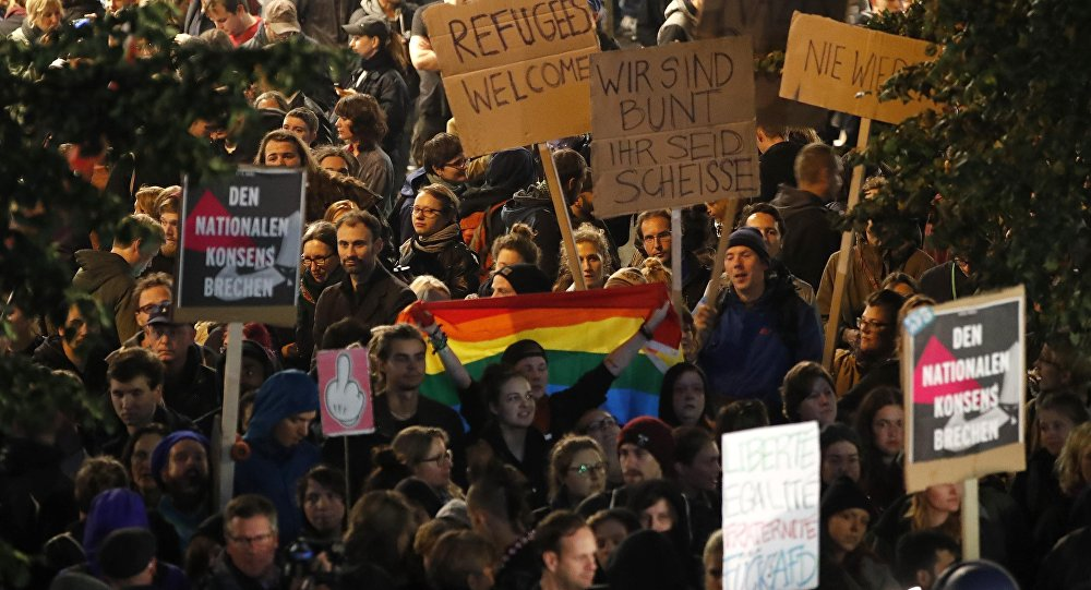 Une manifestation contre l'AfD