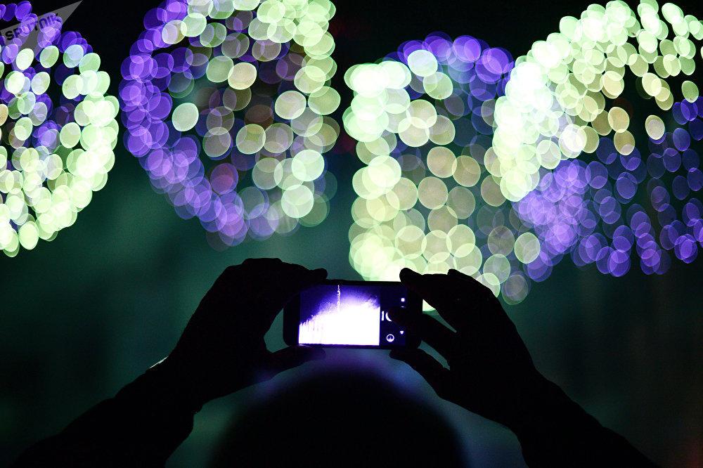 Musique et feux d'artifice à l'ouverture du festival «Cercle de lumière»