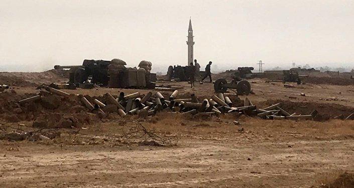 Des combattants syriens à Deir ez-Zor