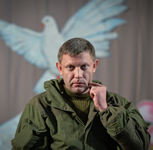 Self-proclaimed Donetsk People's Republic leader Alexander Zakharchenko