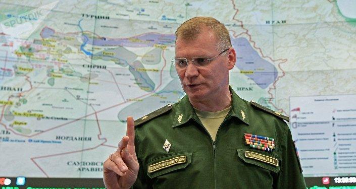 Le général Igor Konachenkov,  porte-parole du ministère russe de la Défense