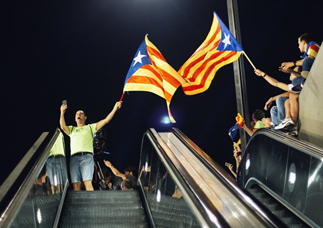 Une manifestation en faveur du référendum à Barcelone