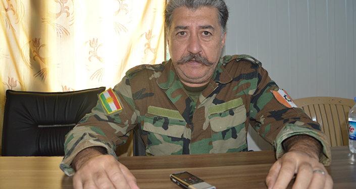 le commandant des Peshmergas, Hussein Yazdanpanah