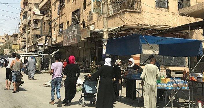 Des civils à Deir ez-Zor