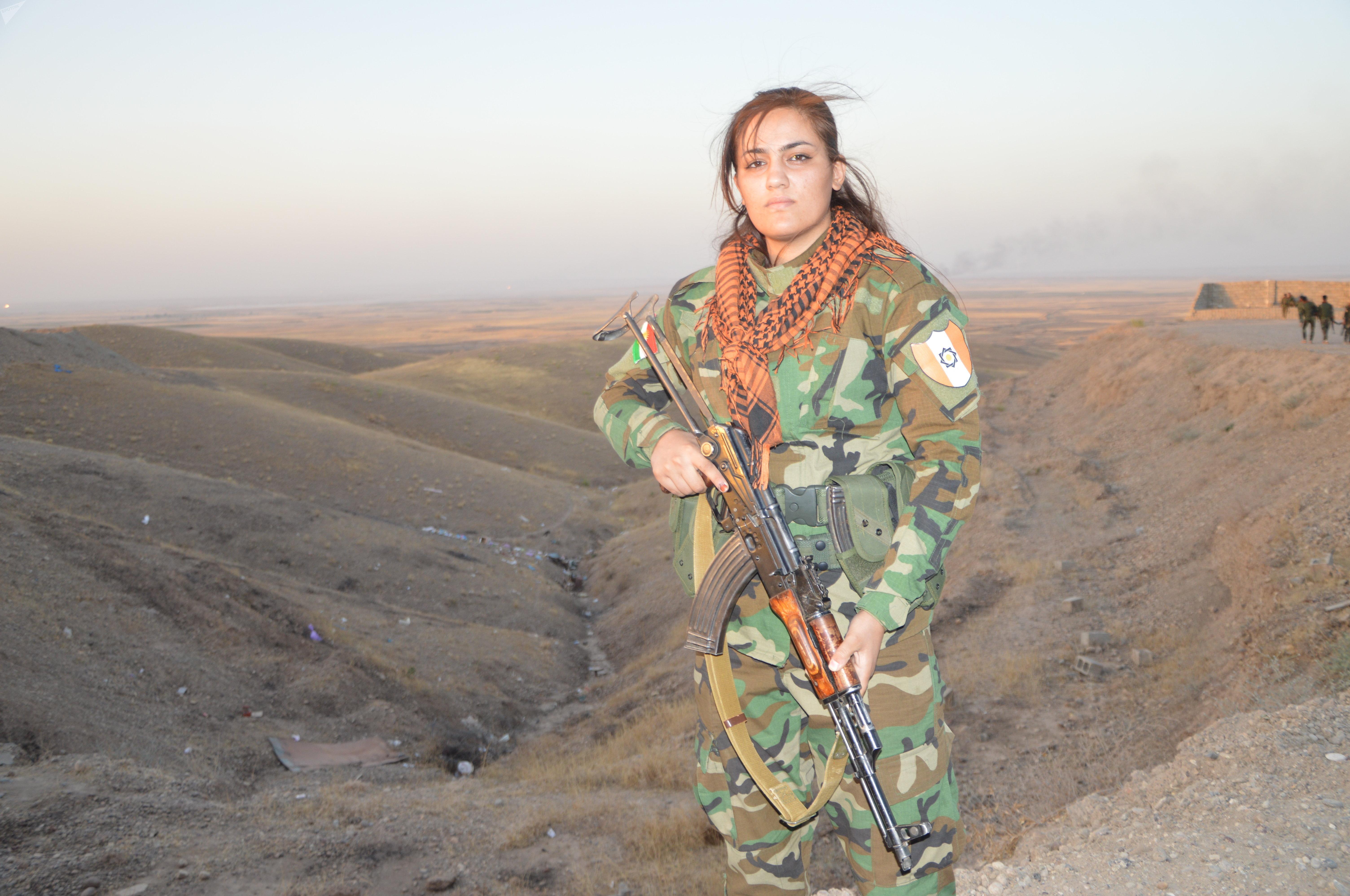 Femme Peshmerga à Kirkouk
