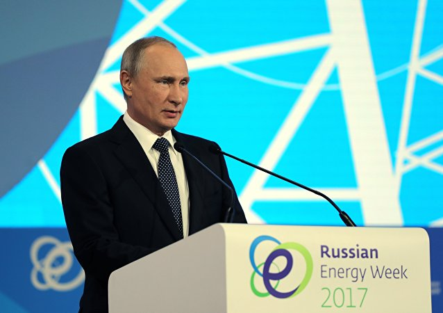 Vladimir Poutine au forum international «La semaine russe de l'énergie»