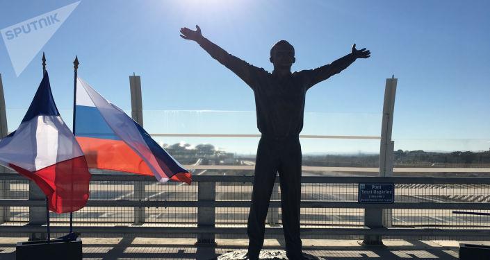 Un monument en l'honneur de Youri Gagarine à Montpellier