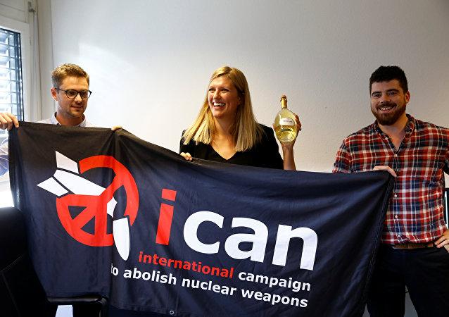 la Campagne internationale pour l'abolition des armes nucléaires