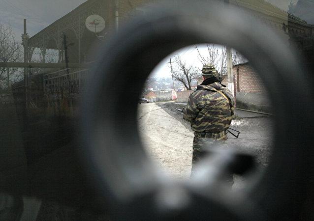 Opération antiterroriste dans le Caucase russe. Image d'illustration