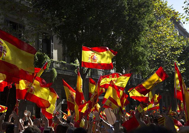 Manifestation en faveur de l'unité de l'Espagne à Barcelone