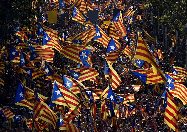 manifestations en Catalogne