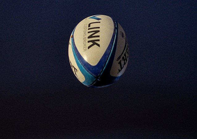 Ballon de rugby. Image d'illustration