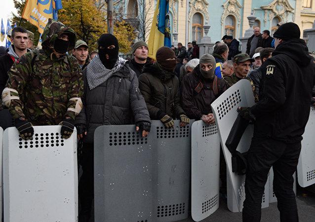 Des manifestants à Kiev