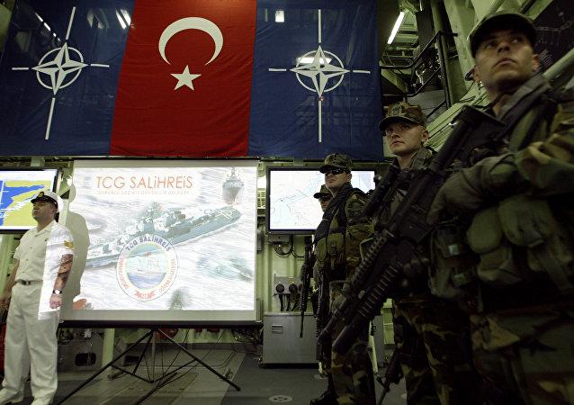 türkische Marine beim NATO-Briefing (Archivbild)