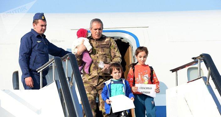 Le vol spécial en provenance de Syrie est arrivé à Grozny