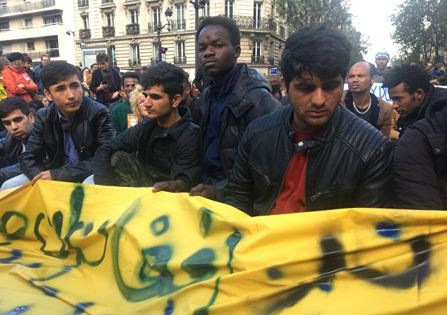 Manifestation des migrants à Paris