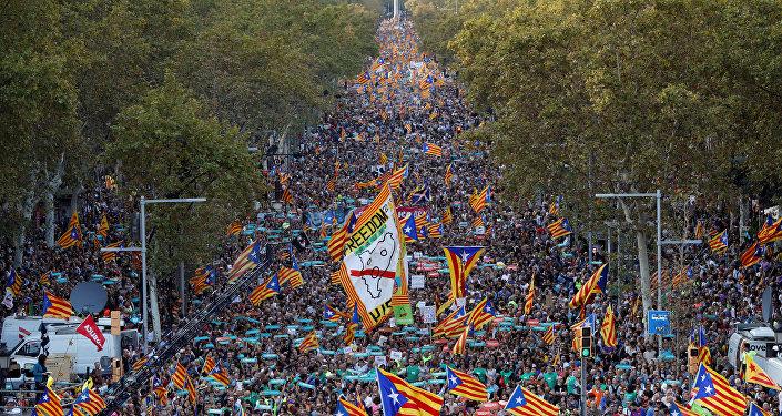Une manifestation à Barcelone