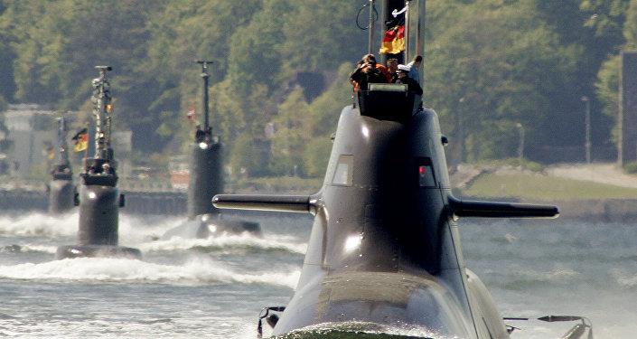 Un U-34 de la Marine allemande