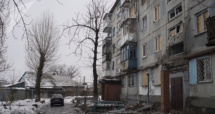 Un immeuble d'habitation à Donetsk