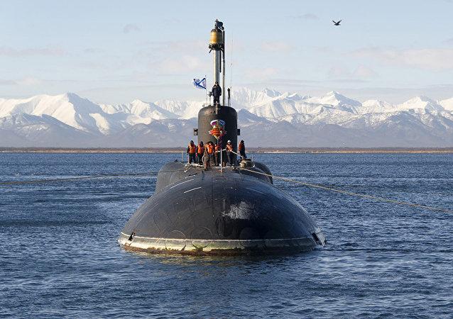 Le sous-marin nucléaire Alexandre Nevski de la flotte russe du Pacifique
