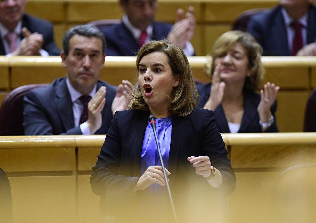 Soraya Sáenz, la vicepresidenta del Gobierno español