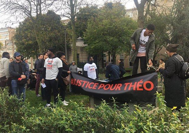 Manifestation de soutien à Théo à Bobigny