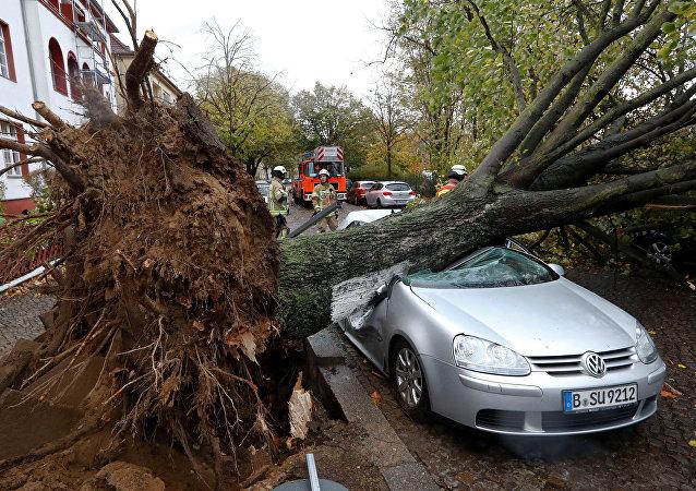 ouragan Herwart en Allemagne