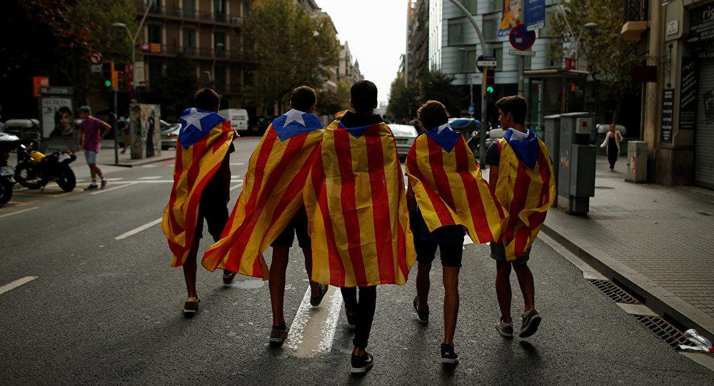 Etudiants catalans à Barcelone