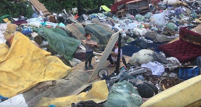 A Paris, un bidonville de Roms à quelques jours d'une énième expulsion