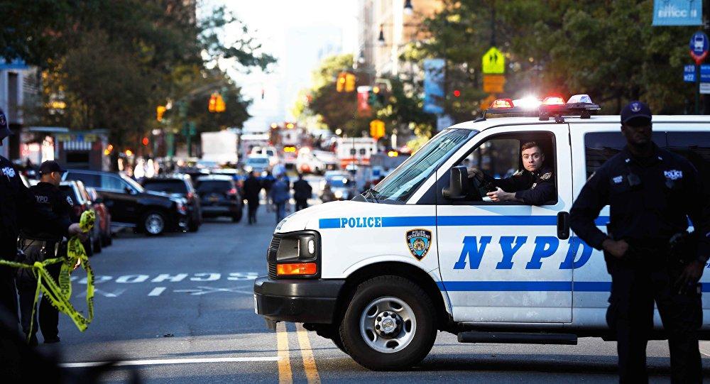 Sur lieu de l'attaque à New-York
