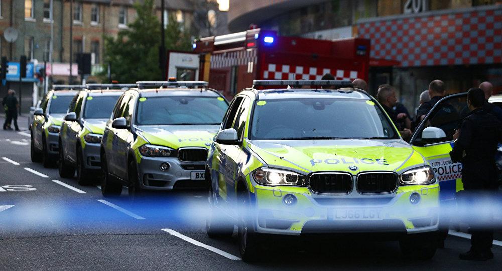 Police au Finsbury Park, Londres