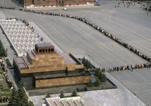 La queue devant le mausolée de Lénine
