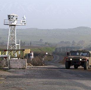 La frontière entre Israël et la Syrie. Photo d'archive