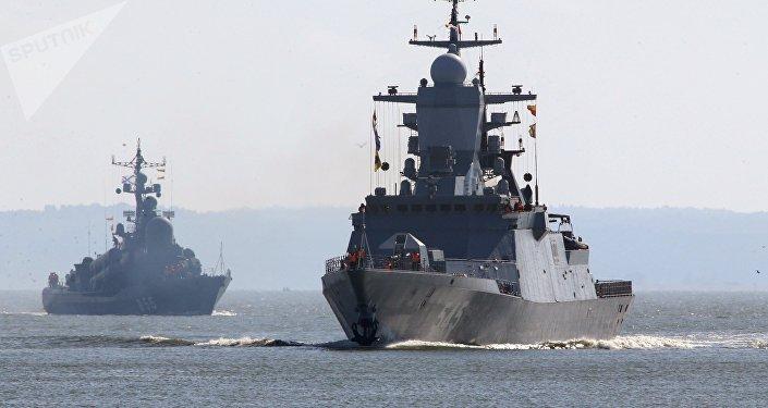 Des navires de la Flotte russe de la mer Baltique, image d'illustration