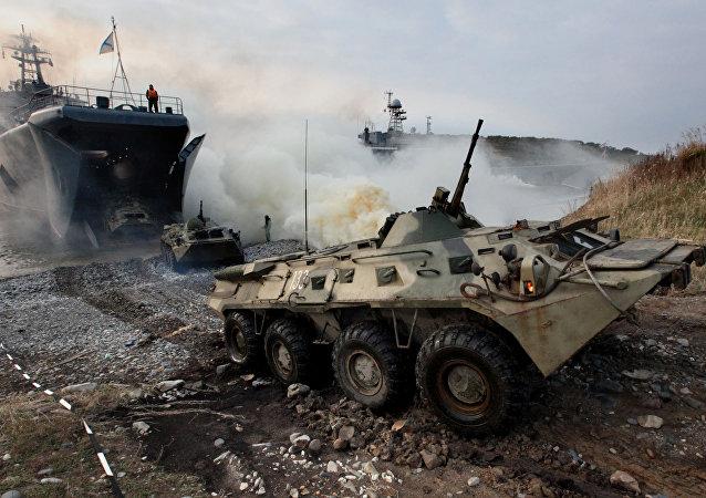 Des exercices de l'armée russe