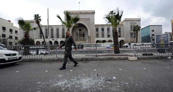 Des forces de l'ordre syriennes à Damas