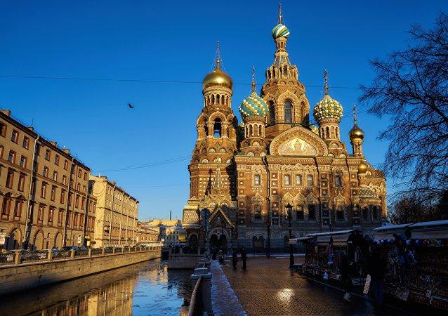 La cathédrale du Sauveur-sur-le-Sang-Versé à Saint-Pétersbourg