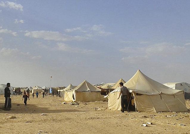 Le camp de réfugiés syriens d'Al-Rukban