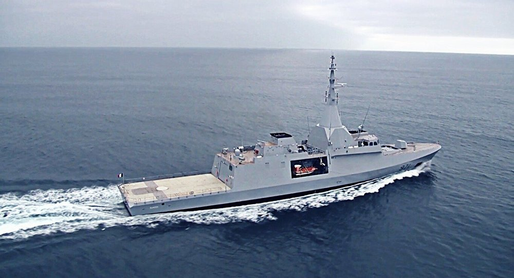 First sea trials of the Gowind 2500 corvette El Fateh (971).