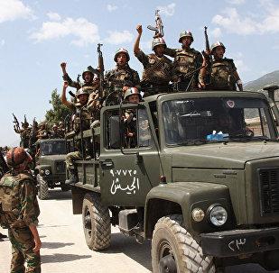 Militaires syriens. Photo d'archive