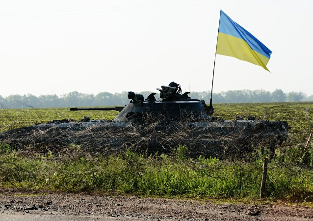 Des militaires ukrainiens dans le Donbass. Archive photo