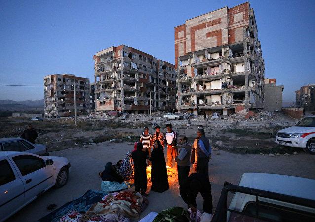 séisme et l'Iran