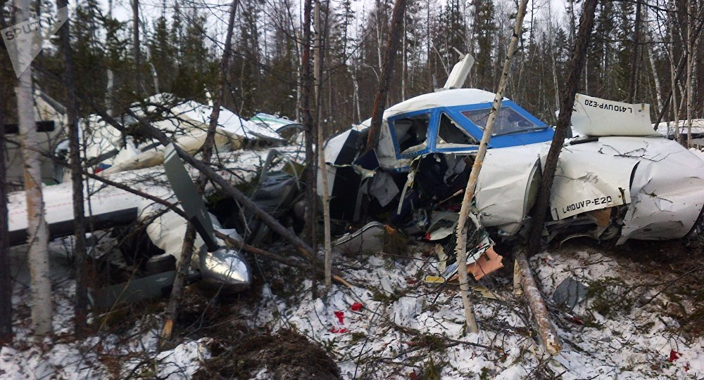 Crash de l'avion l-410 dans le Kraï de Khabarovsk