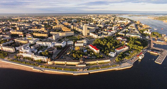 Beauté arctique d'Arkhangelsk (Nord de la Russie)