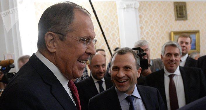 Sergueï Lavrov et Gebran Bassil à Moscou