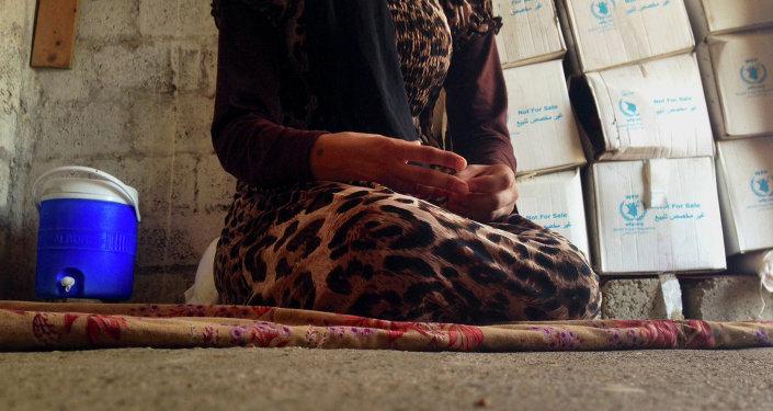 Une jeune yézidie capturée par Daech. Image d'illustration