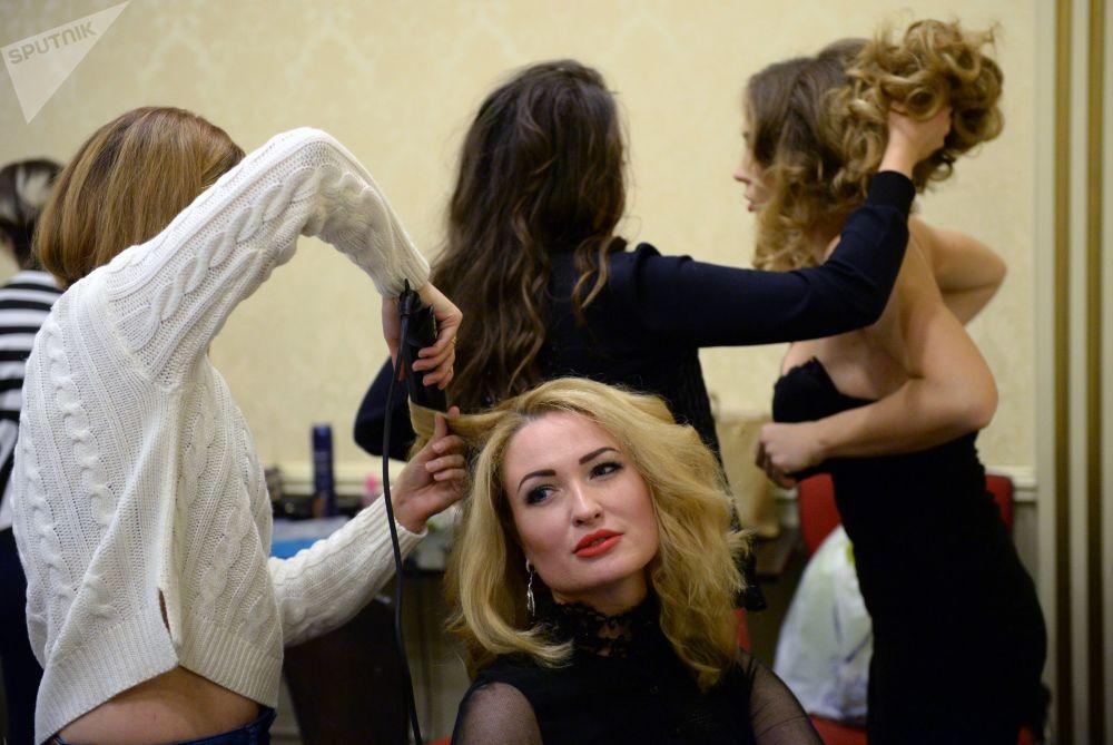 La finale du concours Top-modèle de Russie à Moscou