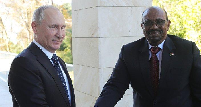 Vladimir Poutine et le Président soudanais Omar Hassan el-Bechir