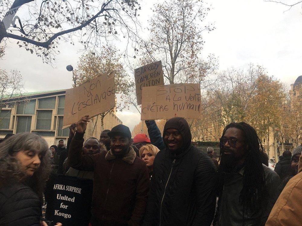 Une manifestation contre l'esclavage en Libye se déroule à Paris