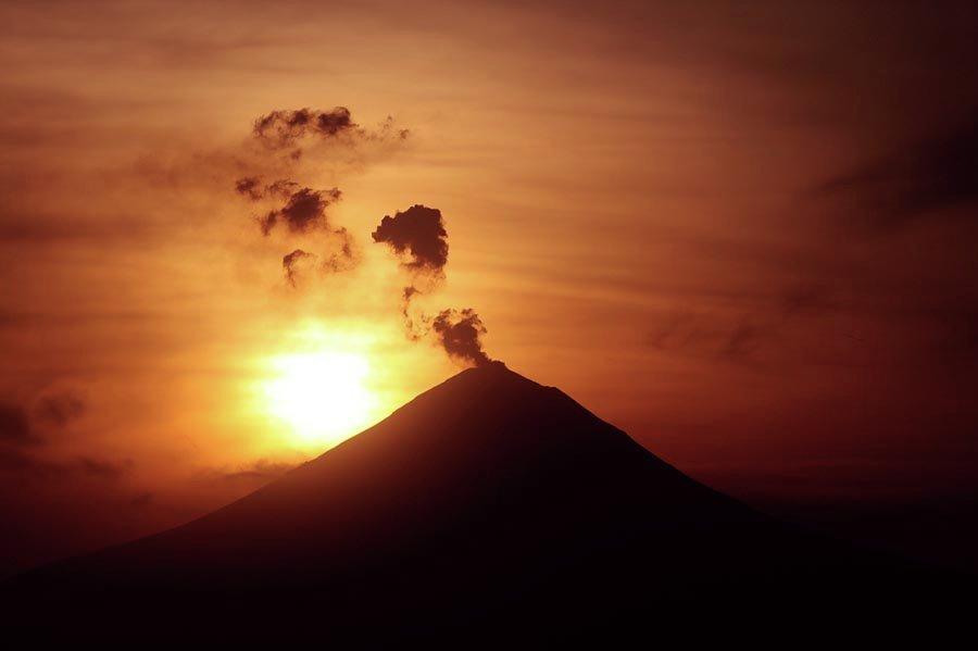 Le volcan mexicain Popokatepetl